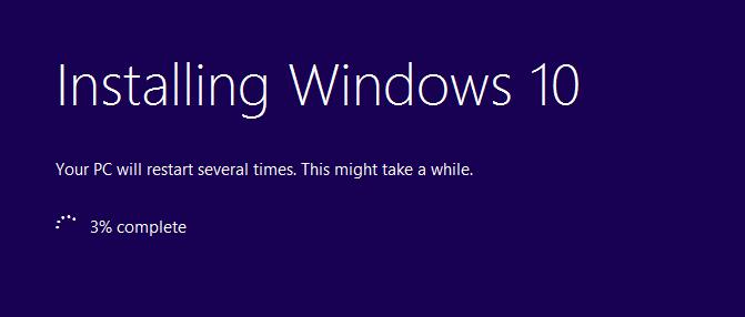 Installing Windows 10